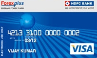Hdfc india forex card